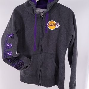 GIII 4Her  Lakers Sequin Hoodie Small